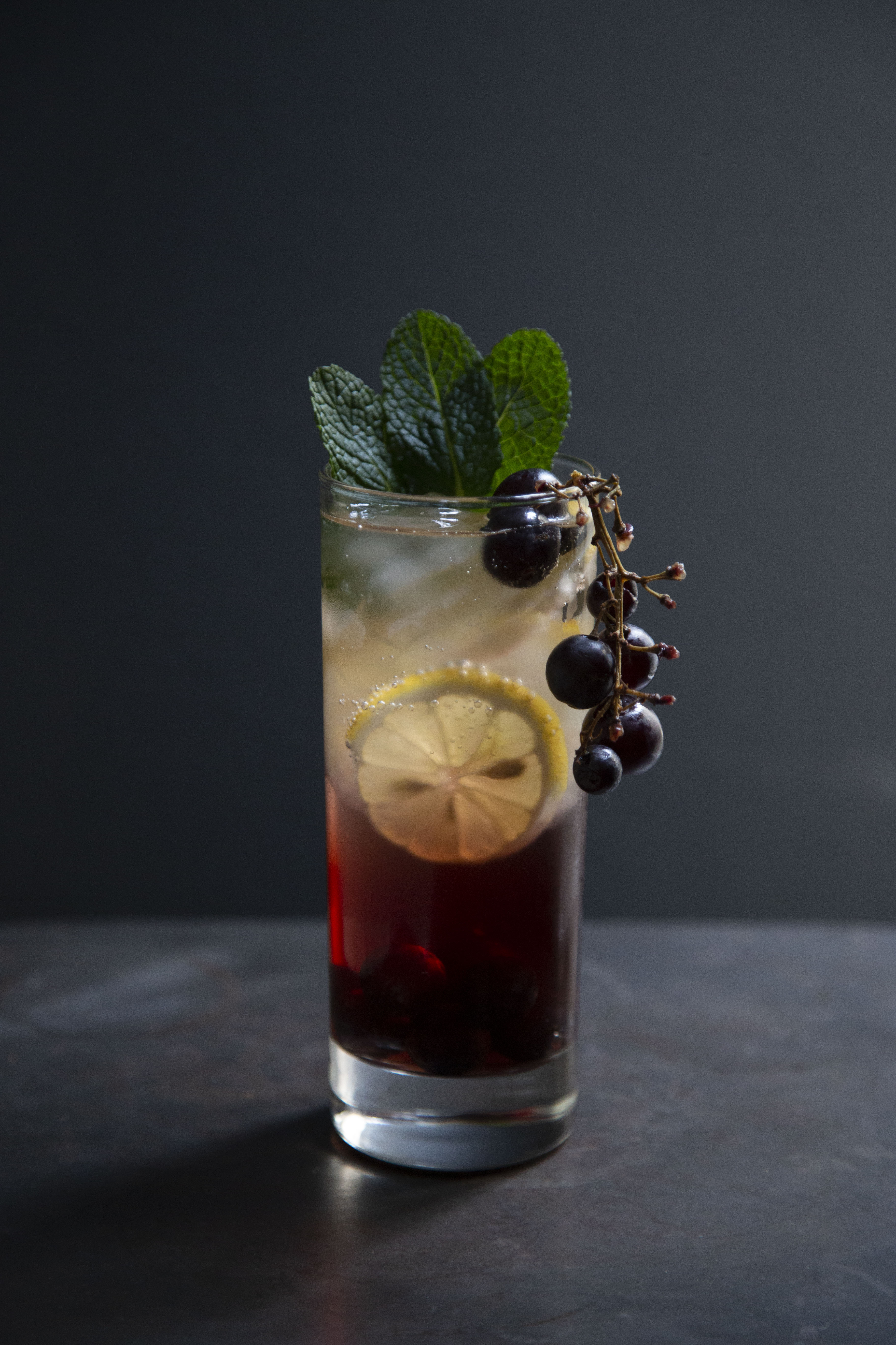 Picture of blueberry lemon gin fizz